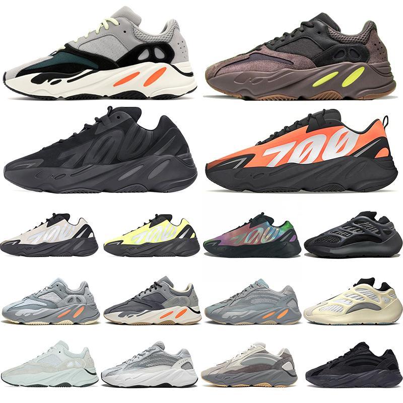700 V2 Dalga Koşucu Leylak Kanye West Statik Koşu Ayakkabıları Erkek Kadın Tuz Geode Atalet Siyah Beyaz Erkek Spor Tasarımcısı Atletizm Sneaker