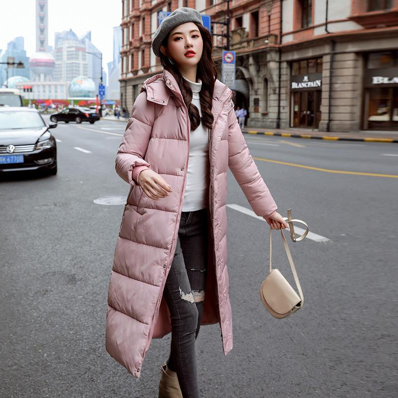 Damen Down Parkas Frauen Winter Lange Mäntel Slim Stilvolle Womens Parka Plus Size Fashions Warme mit Kapuze Oberbekleidung