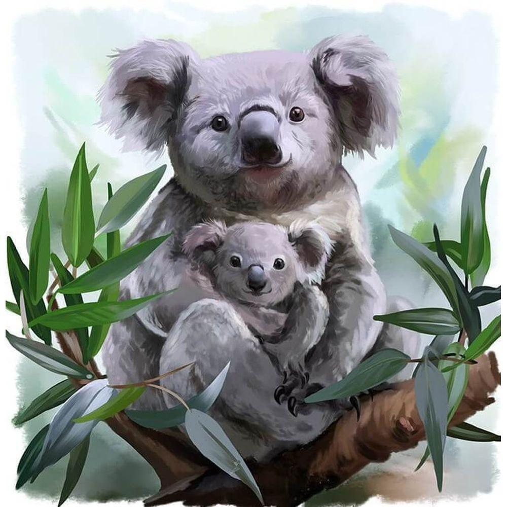 Diamant Peinture pleine foret 5D strass Koala Ours avec Artisanat Bébé Art Hobby Art Artisanat