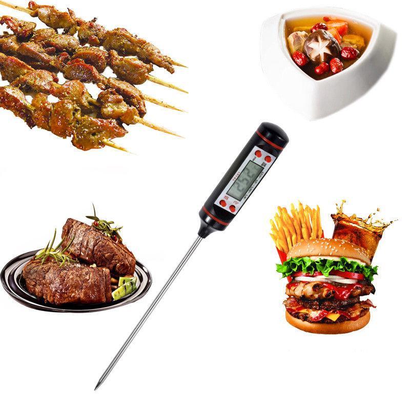الغذاء الطبخ الرقمية ميزان الحرارة لحوم التحقيق المنزلية التملك وظيفة مطبخ LCD قياس القلم شواء كاندي ستيك الحليب 4 أزرار المياه