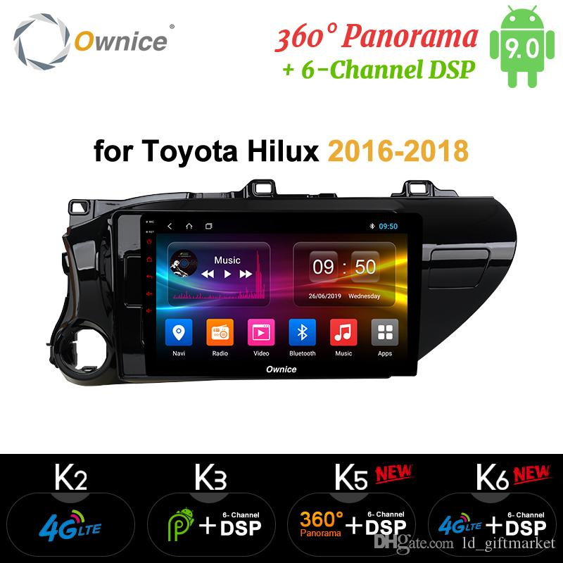 Ownice K3 K5 K6 Android 9.0 car radio for Toyota Hilux 2016 - 2018 auto Car DVD Navigation