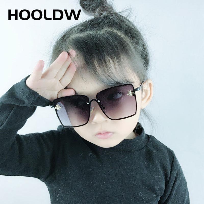 HOOLDW 2020 موضة النظارات الشمسية للأطفال كبير جدا ساحة الأطفال نظارات شمسية بنين Girys في الهواء الطلق السفر نظارات UV400