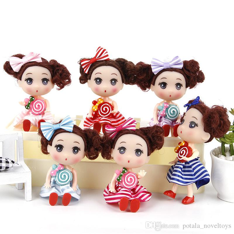 12CM Baby Doll Kids Toys DIY Dress up Lovely Princess Cute Doll Soft Interactive Baby Dolls Toy Fashion Mini For girls Stuffed Toys Birthday