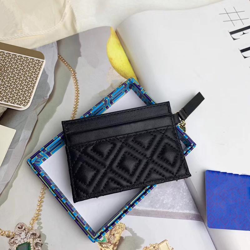 Uomini e donne nuovi supporto di carta progettista titolare della carta in pelle di agnello nero mini raccoglitore della moneta tasca borsa fessura interna scatola di cuoio camelliawith