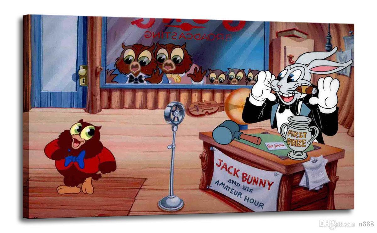 Pintura Anime Eu amo Singa Owl Jolson Home Decor pintado à mão HD impressão Pintura a óleo sobre tela Wall Art Canvas Pictures 191103
