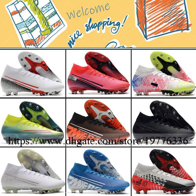 ارتفاع الكاحل جوارب أحذية كرة القدم زئبقي ال superfly السابع AG CR7 كريستيانو رونالدو نيمار JR في الهواء الطلق المسامير المدربين كرة القدم أحذية كرة القدم المرابط