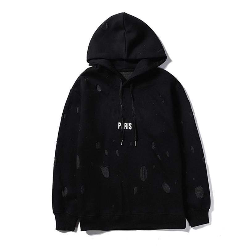 20FW para hombre estilista Hoodies Hombres Mujeres de alta calidad de algodón con capucha del estilista de la calle Pareja Wear Pullover sudaderas tamaño S-XL