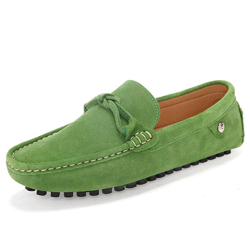 Luxus-Designer-echtes Leder-Männer Loafers weiche Mokassins Licht Breathable Männer Wohnungen Driving Schuhe British Fashion Slip on Boots-Schuhe