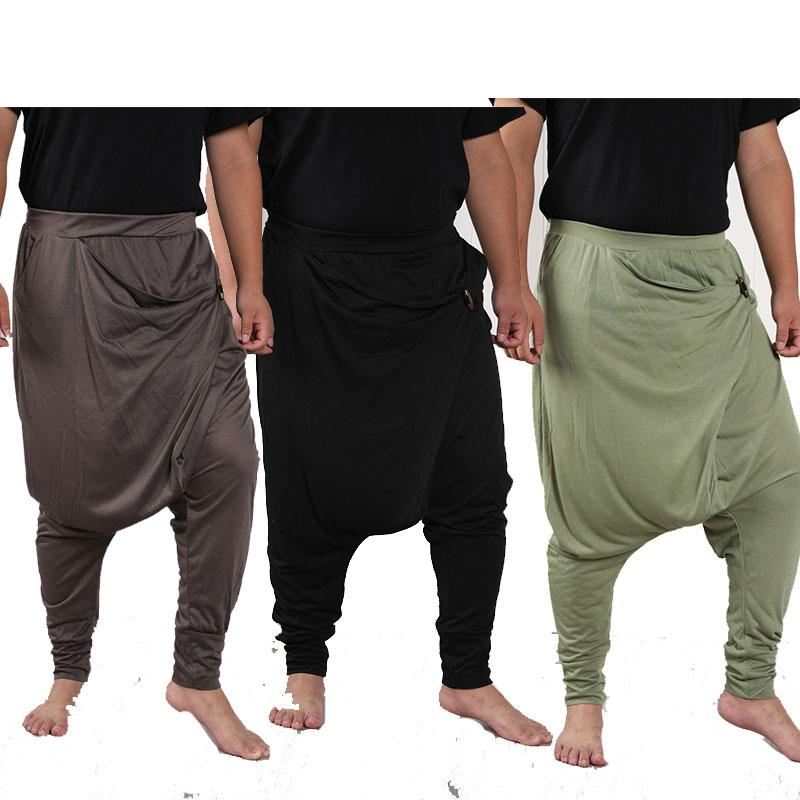 2020 Mens Baggy Harem Pants Drop Crotch Hippie Boho Harem Desert Trousers Men Casual Loose Yoga Pants Male Clothing From Burty 21 73 Dhgate Com