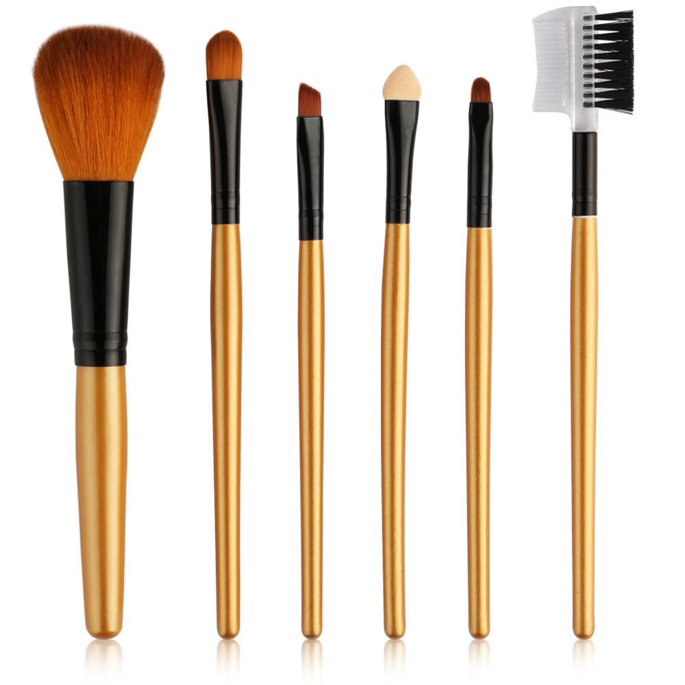fashion 6pcs Makeup Brushes Set Powder Foundation Eyeshadow Eyeliner Lip Cosmetic Brush Tools Set Make Up Maquillaje