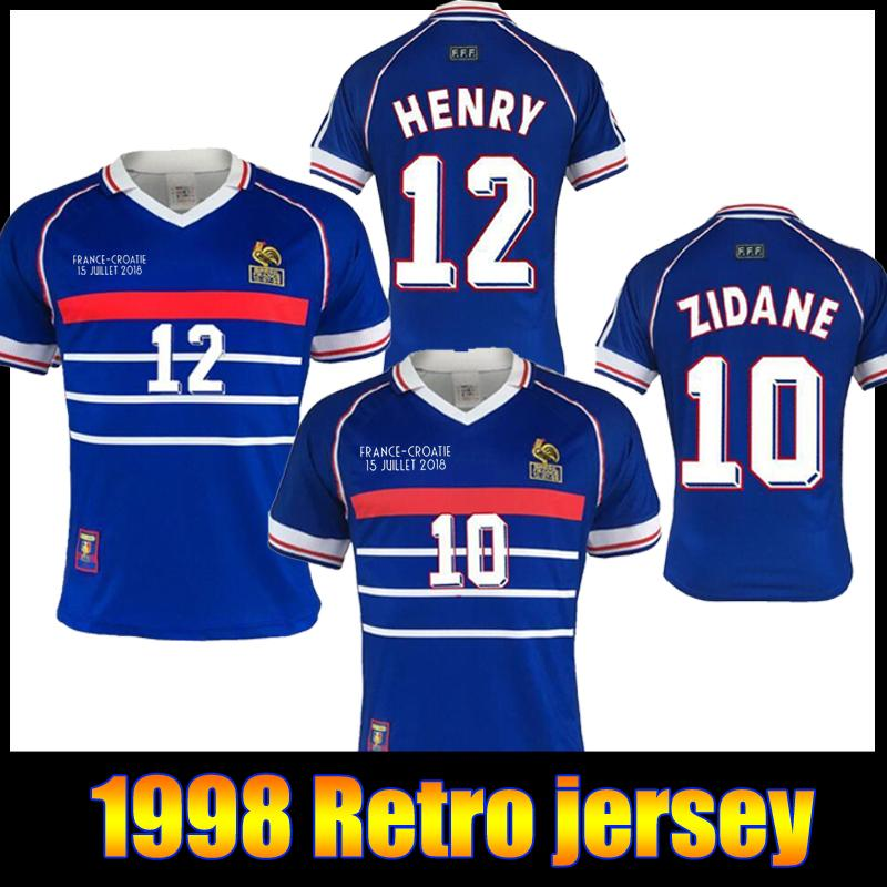 2020 Top 10 Zidane Jersey 1998 France Retro Vintage Zidane Henry Maillot De Foot France Retor Soccer Jerseys Uniforms Football Jerseys Shirt From Mike Jerseys 13 86 Dhgate Com