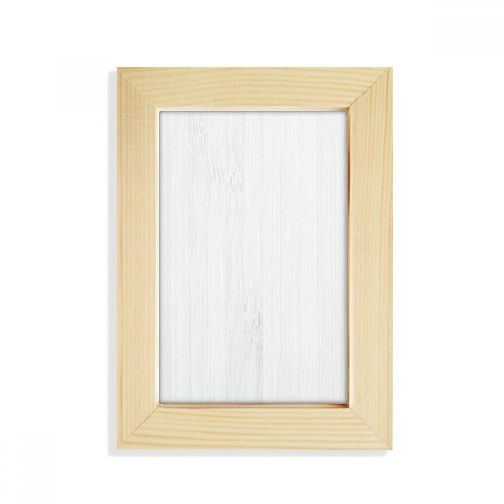 DIYthinker Beyaz Ahşap Damarlar Desen Arka Plan Masaüstü Ahşap Fotoğraf Çerçevesi Resim Sanat Boyama 5x7 inç