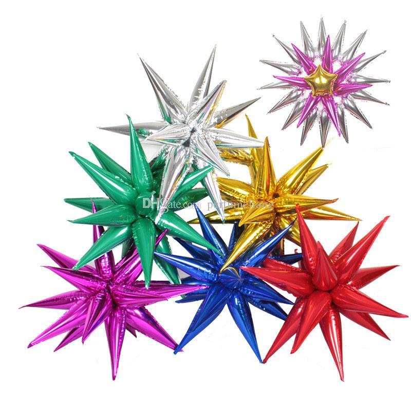 Взрыв звезды воздушные шары день рождения церемония открытия свадебные украшения капли воды конус фольги воздушные шары партия поставки QW9203