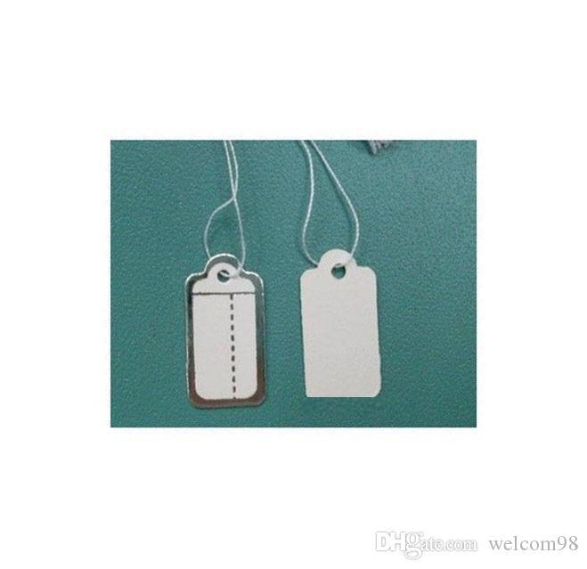 500pcs / lot Label etichetta di carta Tags card per gioielli imballaggio visualizzazione moda regalo artigianale 13mmx26mm LA01 *