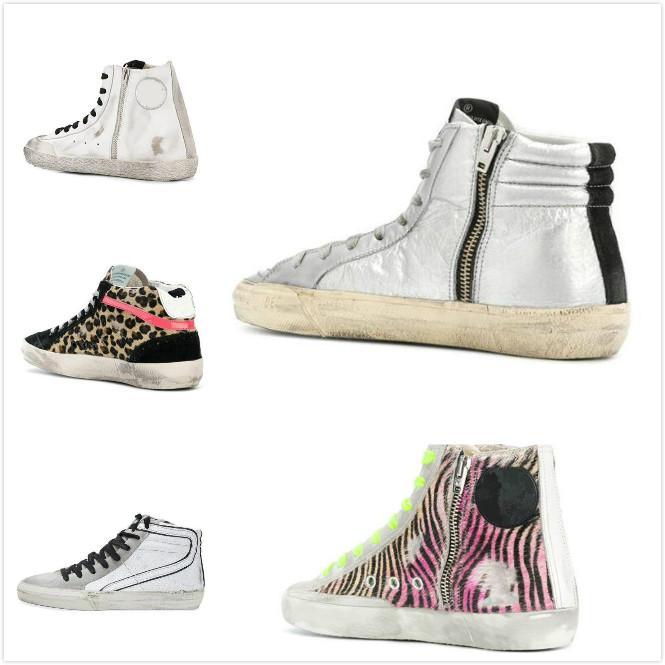 Deluxe marca Golden Superstar estrella top zapatos Hombres / Mujeres Do-viejos sucios Deportes Plataforma estrella Zapatos Casual Botas
