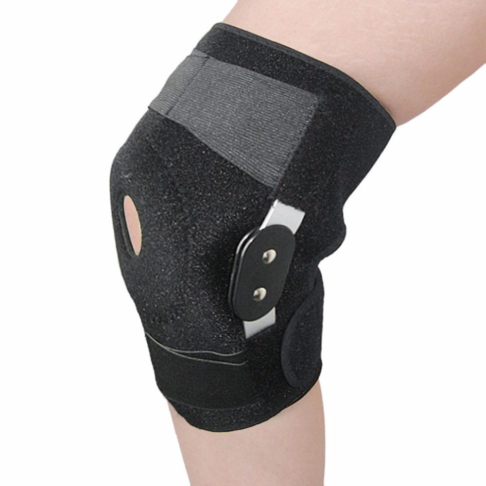 Knee Support Brace Professional Sports Safety Stabilizer with Adjustable Hinged Knee Support Pad Guard Breathable Knee Protecto