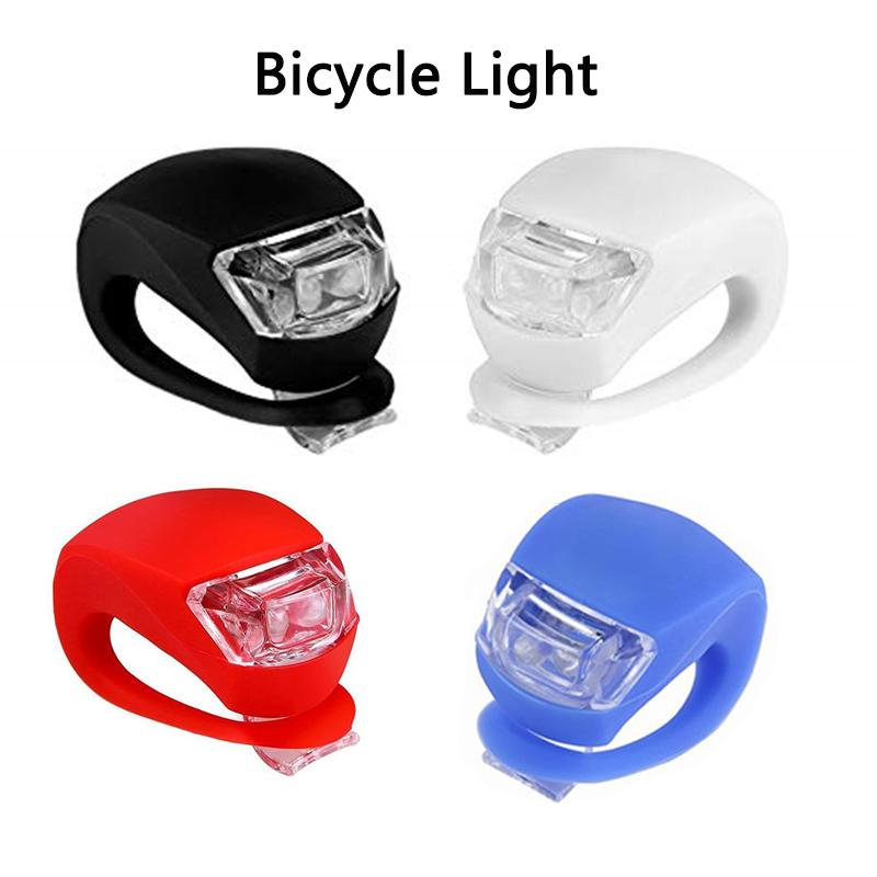 Luces de bicicleta Silicona Bicicleta Ciclismo Cabeza Rueda trasera Rueda LED Faros para Mountain Roads Noche Ciclismo Baterías incluidas