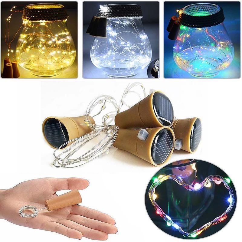Angetriebene Weinflaschenkorken-Form-LED-Kupfergirlande-Girlande-Draht-Schnur beleuchtet das glänzende Weihnachten