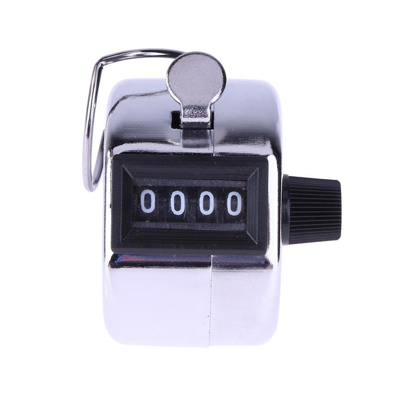 Mechanical Palm Counter Metal Hand Tally Counter Lap /& Knitting 4-Digits Tally Counters Resettable Handheld Pitch Click Counter with Hook Number Count for Sport