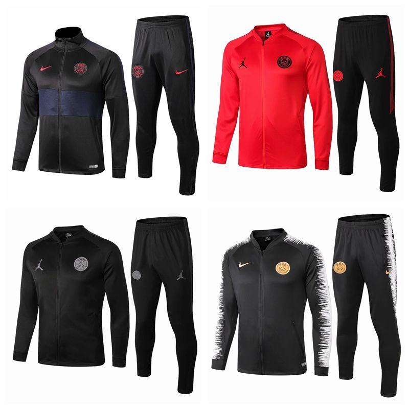 Yeni PSG futbol ceket eşofman Survetement 18 19 20 Paris MBAPPE spor futbol ceket Kapşonlu eşofman