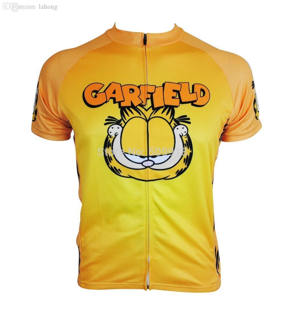 도매 자전거 저지 2015! 의류 노란색 순환 가필드 자전거 저지 / 자전거 도로 / 사이클 / 자전거 저지 남성
