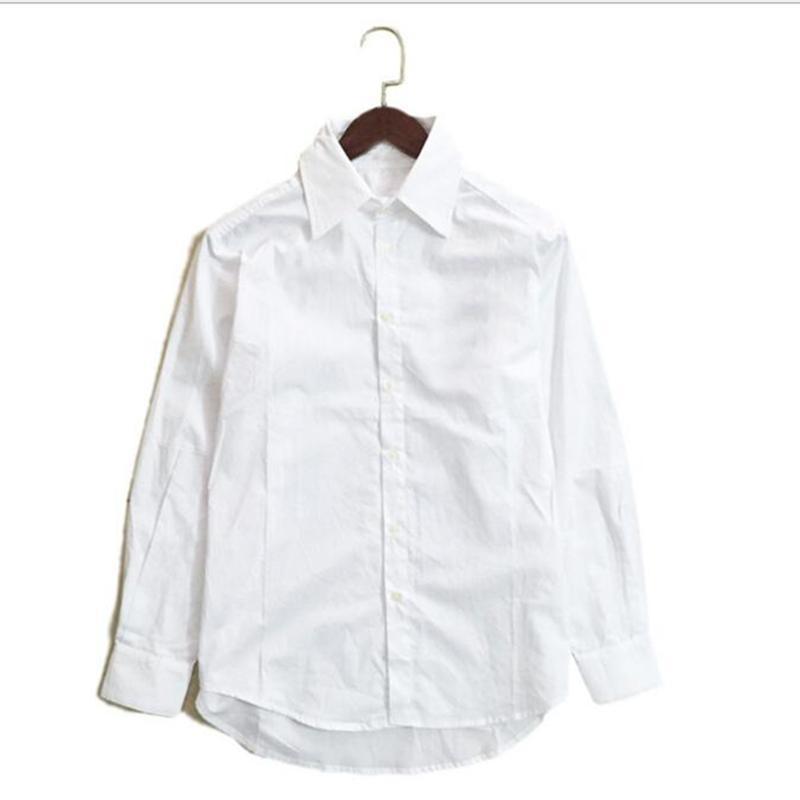 Casual Kadın Bluzlar Gömlek Pamuk Ünlü Trend Tişörtleri En Kaliteli Nakış Moda Lady Uzun Kollu Kadın Elbise Gömlek