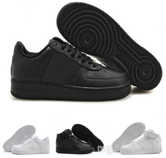 Damen Herren Sneakers Outdoor-Sportschuhe Wander Runner Schuhe High Low Cut Alle Weiß-Schwarz-Farbe Skateboard Trainer Turnschuhe US5.5-12