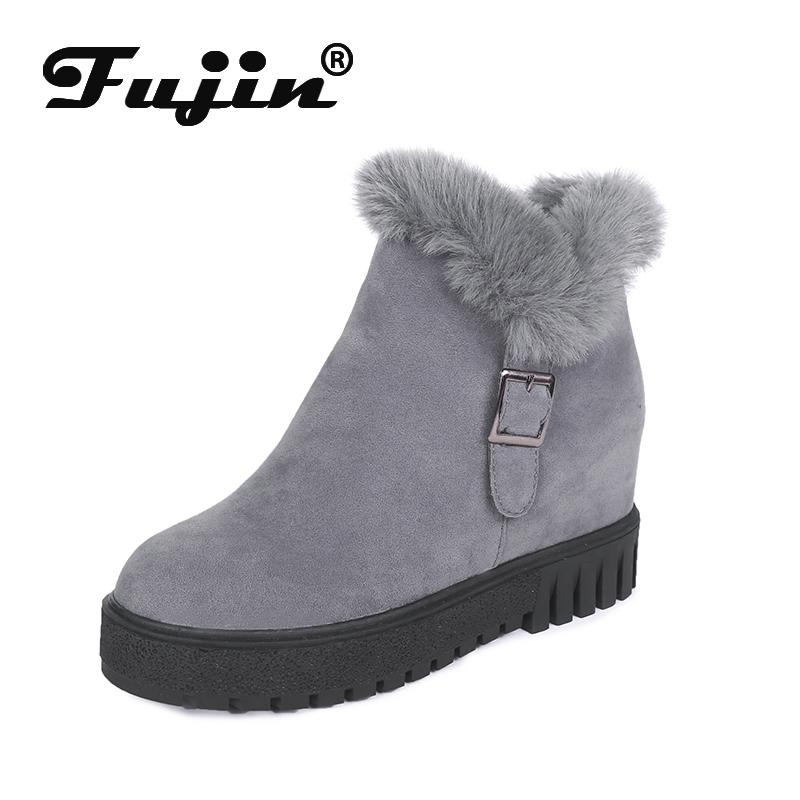 Fujin Winter Pedal Cotton Shoes and Velvet Shoes Padded Short Boots New Snow Boots Women Short Tube Student Women Warm