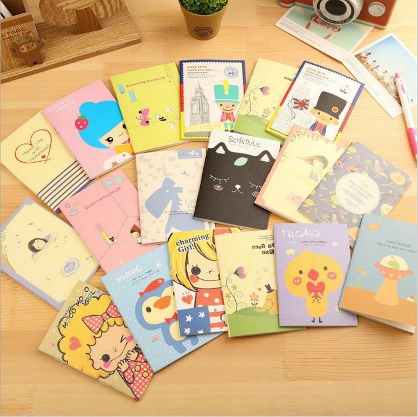 Novelty Cartoon Animals Mini Notebook Diary Pocket Notepad Promotional Gift Stationery