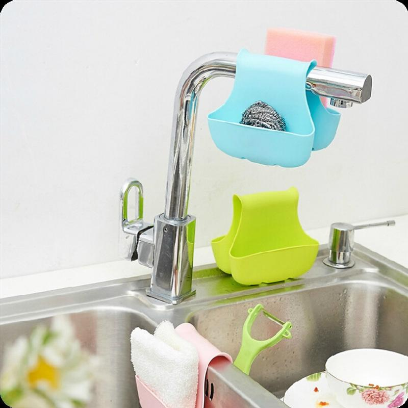 New Arrival Double Sink Caddy Saddle Style Kitchen Organizer Storage Sponge Holder Rack Tool Kitchen Sink Hanging Drain Rack Other Home Stor