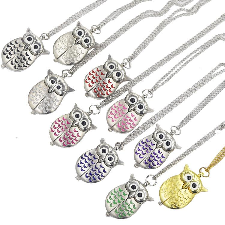 Eagle necklace watch owl key chain pendant watch pocket watch mix color