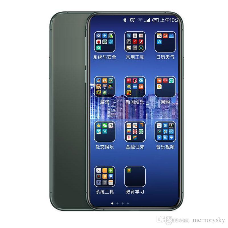 Goophone 6.5inch 10th Maximum Andriod phone 1GBRAM 16GBROM MTK6580 QuadCore 8MP 3G WCDMA FaceID Sealed Box Fake 4G displayed