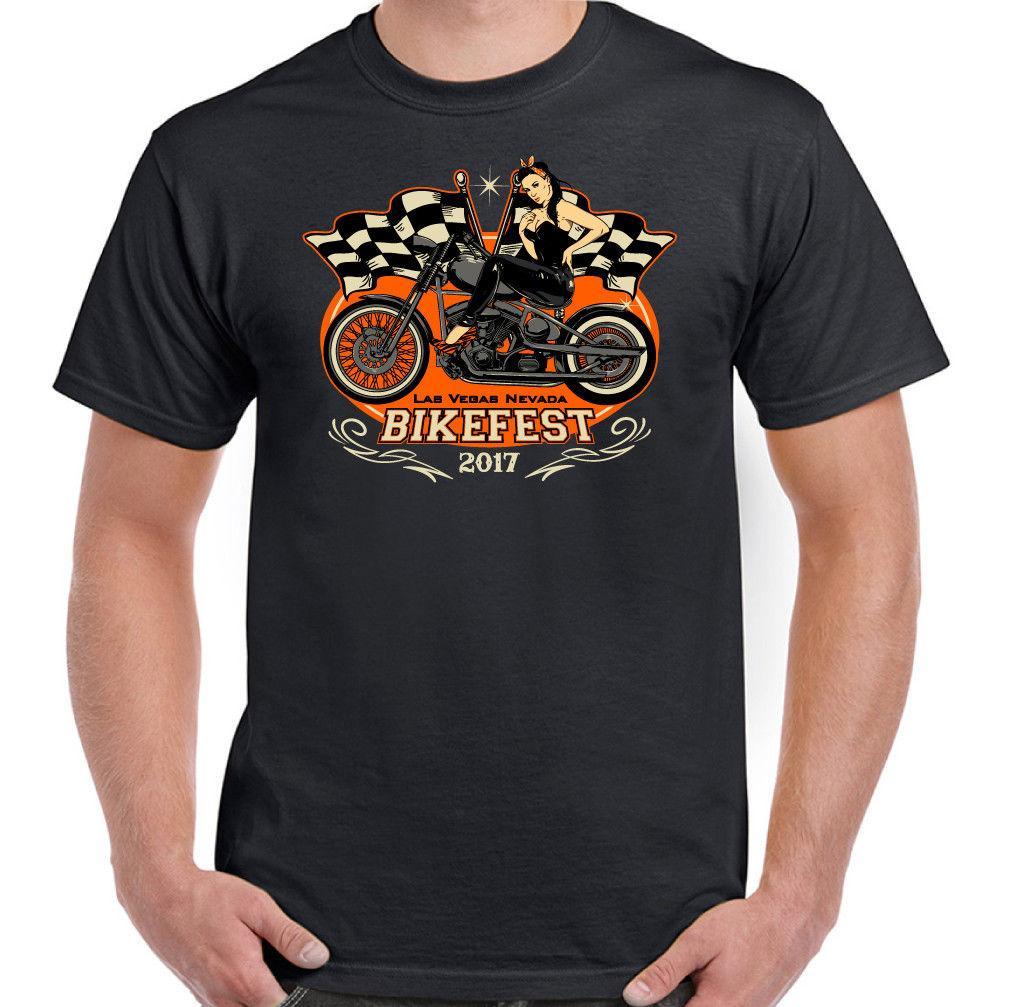 Las Vagas Moto Fest Hombre Moteros Camiseta Indio Harley Moto 2019 Verano Nueva marca Camiseta Hombres Hip Hop Hombres Camiseta Casual Fitne