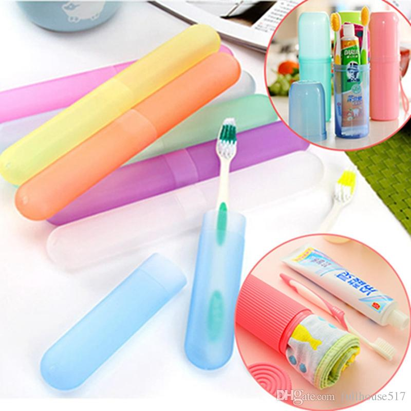 Portable Toothbrush Case Hiking Camping Travel Protect Storage Plastic Tube Box