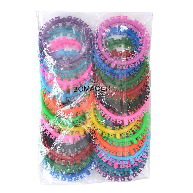 Dental Orthodontic Ligature Ties Elastics Multiple Colors Cartoon 1 Pack Ligature Tie Follower Types 1000 Pieces/pack