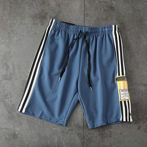 2020 short hommes designer été nouvelle marée européennes et américaines bandes latérales de la marque élastique sport lâche attache ceinture shorts1 hommes
