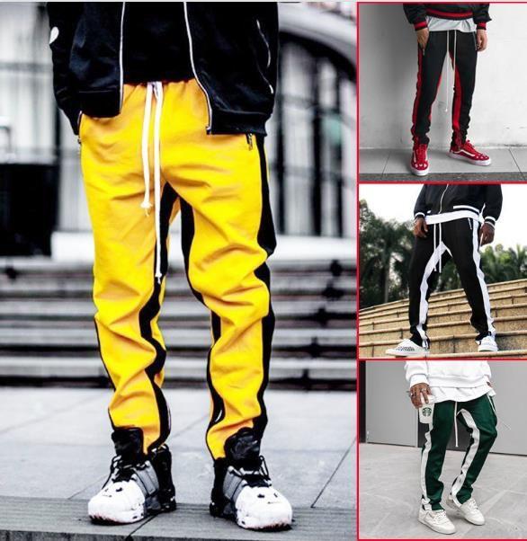 Hip Hop dos homens do desenhista calça casual solta Esportes calças para homens com cordão Correndo Moda Mens Clothing