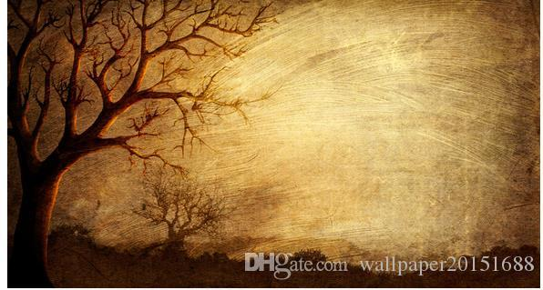 Living Style Wallpaper Europe And America Vintage Old Abstract Woods Forest Oil Painting Background Wall Blue Wallpaper Bollywood Actress Wallpaper