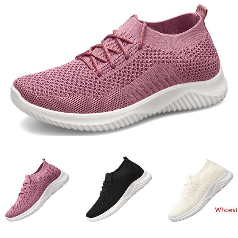 2020 Toda venda em execução meias sapatos para as mulheres negras bege rosa esportes suaves respirável tamanho da sapatilha 36-41 frete grátis cinco