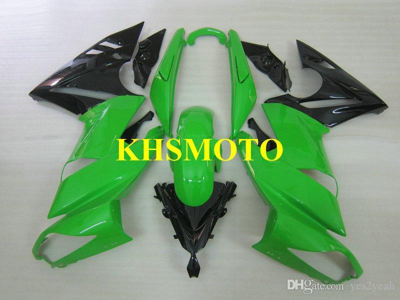 Motorcycle Fairing kit for KAWASAKI ER6F 09 10 11 12 ER 6F 2009 2012 ABS Green Fairings set+ gifts KY01