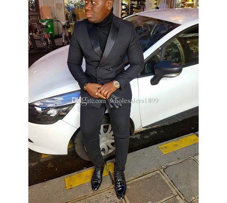 Neue Mode Zweireiher Bräutigam Smoking, hübsche Slim Fit Männer Hochzeit Groomsmen Business Party Prom Anzüge (Jacke + Hose + Tie) NO: 532