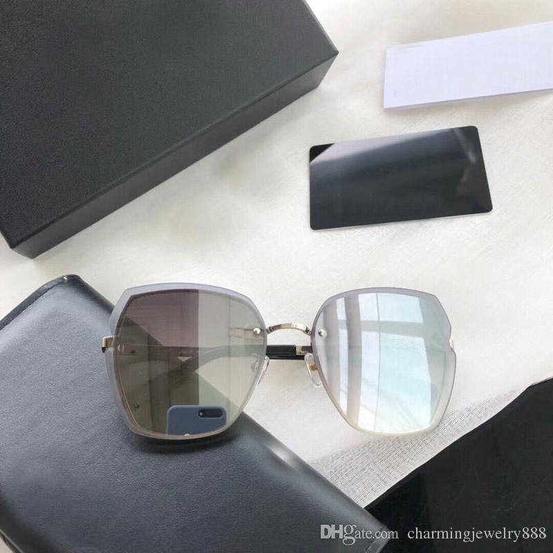 Top occhiali da sole di qualità per le donne senza cornice da sole UV di protezione delle donne eleganti Sunglass femminili Brand Design Eyewear degli occhiali Leggero