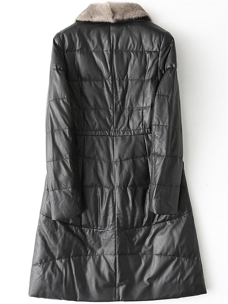 Aşağı Coat Kış Kalın Plus Size Dış Giyim HQ12-YY1022B MF242 Ördek hakiki Ceket Kadınlar Gerçek Sheepskin Deri