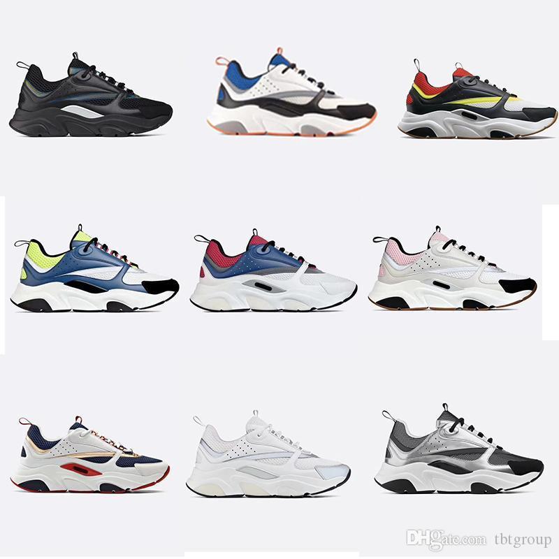 Última Diseñador B22 zapatillas de deporte para hombre de la vendimia Entrenadores mujeres de cuero de la plataforma zapatillas de deporte de calidad superior de la lona y piel de becerro Formadores las zapatillas de deporte de lujo