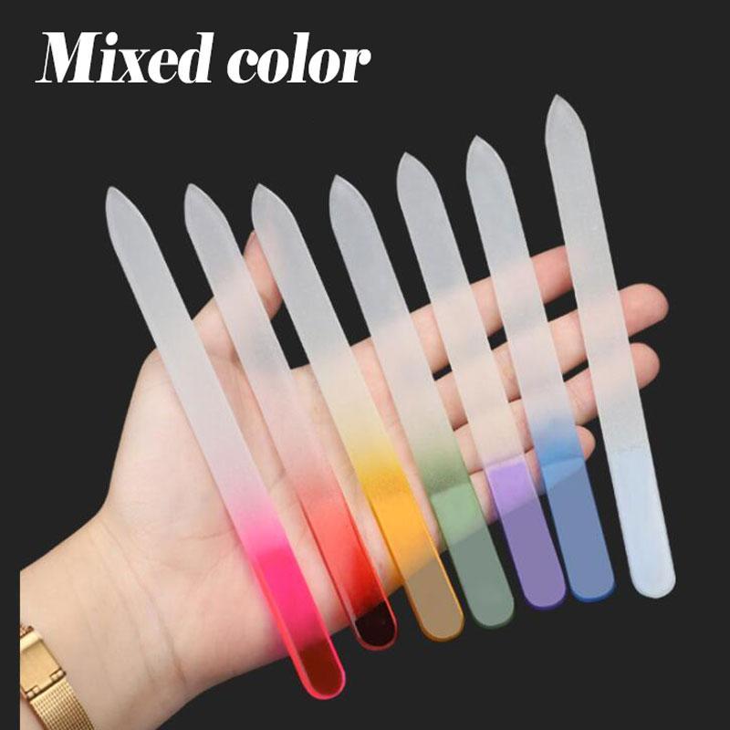 MEJOR venta de color de gradiente 14 cm de calidad agradable Color mezclado Cristal de cristal de cristal de uñas herramienta pulida de uñas