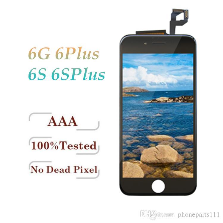 Tianma Kaliteli LCD Ekran iphone 6 6 Artı 6 S 6 S Artı Çerçeve Tam Meclis ile Dokunmatik Digitizer Komple Ekran Beyaz Siyah