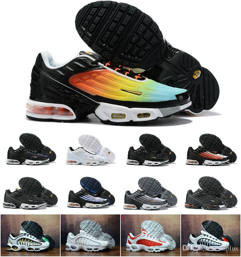 Designs 2019 Plus TN III 3 Sports Shoes Men Women Chaussures Tuned Air Black White Original Tn Ultra Trainers Luxury jogging OG Sneakers