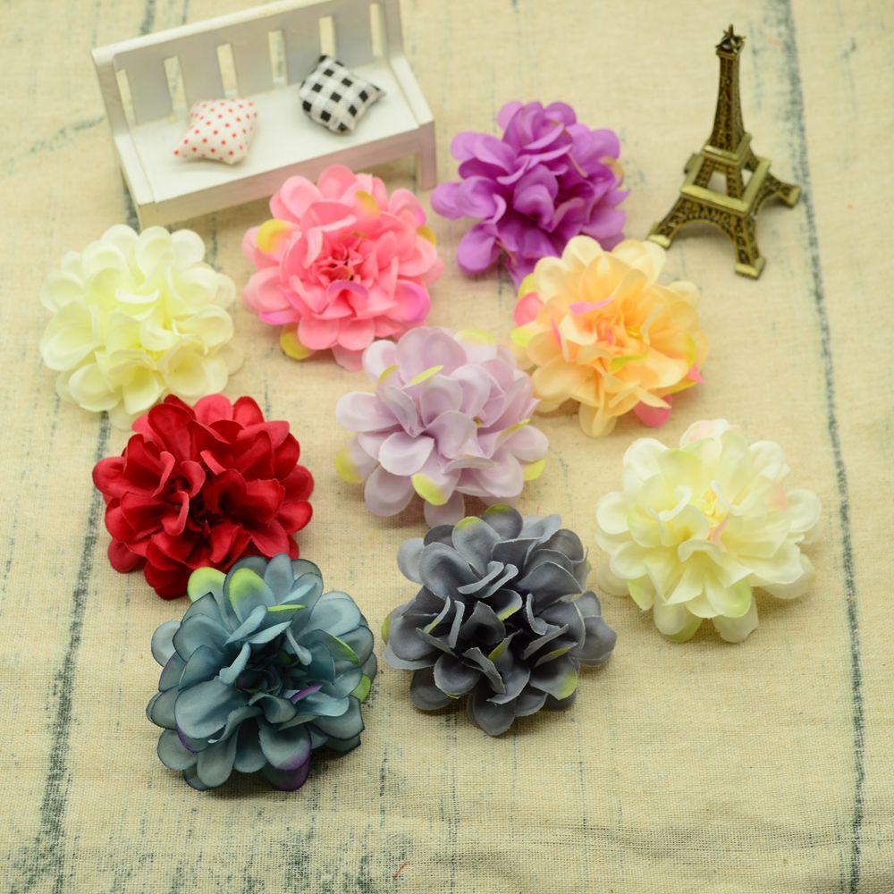10 piezas de seda gerbera 7 cm decoración de corona de navidad barata para el hogar accesorios de boda rosas falsas regalos de bricolaje flores artificiales