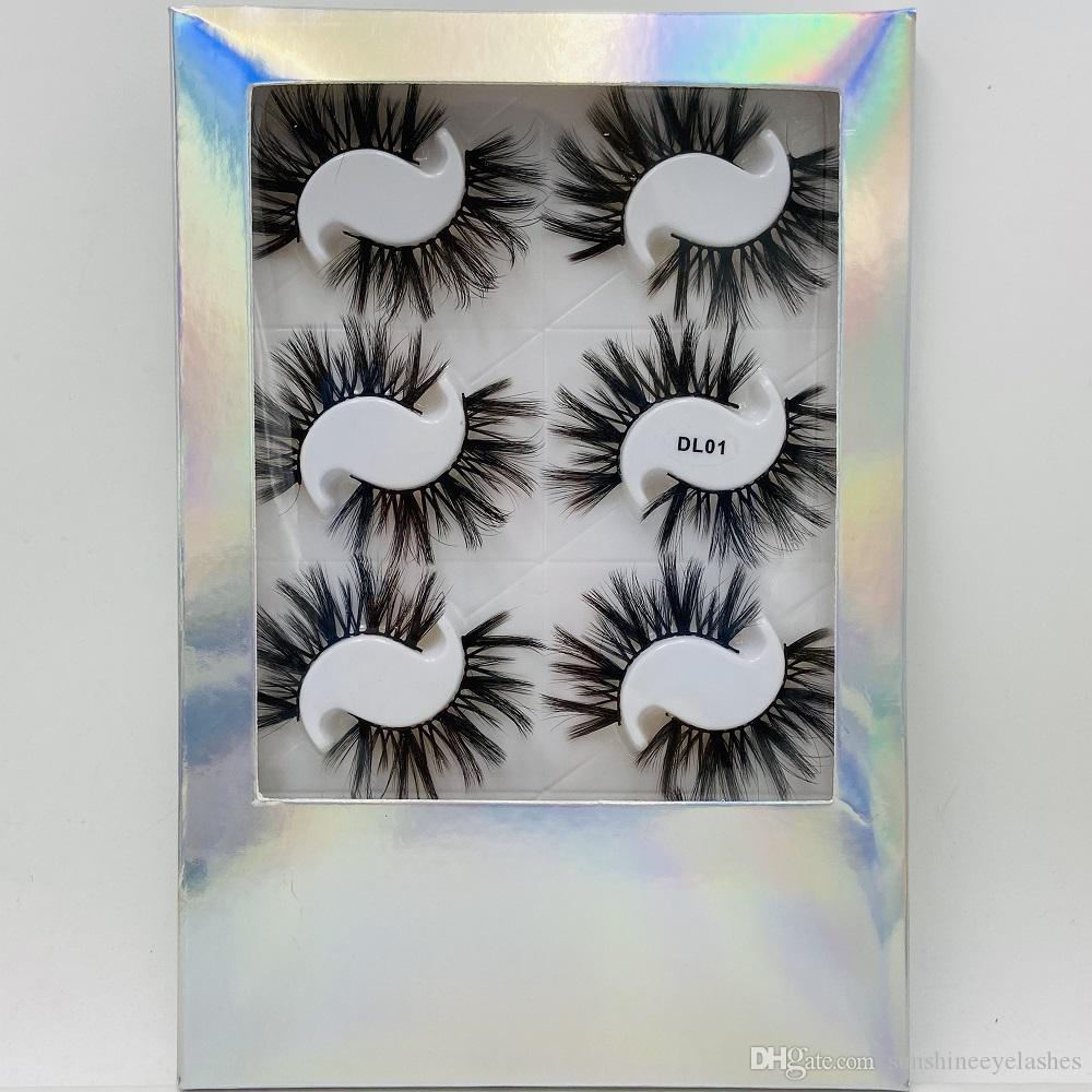 8 paires de faux cils naturels de 20 mm cils faux cils mkeup extension de cils Maquillage des yeux doux Extension Toolsa