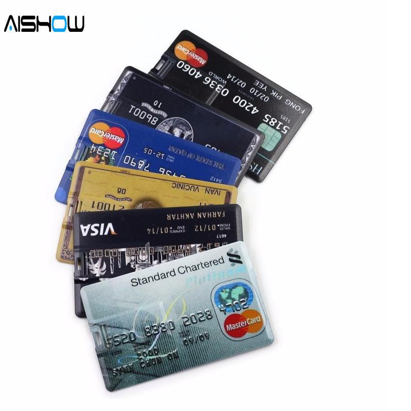 Genuine 4GB-32GB Credit card USB Flash Drive customized Pen drive pendrive 64g
